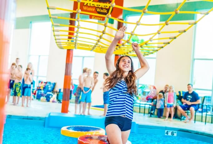 Girl enjoying Hershey's Water Works