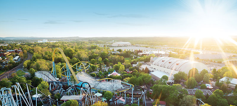 aerial photo of hersheypark