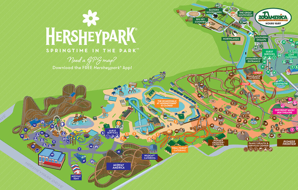 Map Of Hershey Park Park Map | Hersheypark