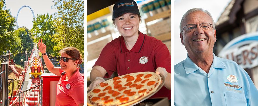 Collage of Hersheypark employees