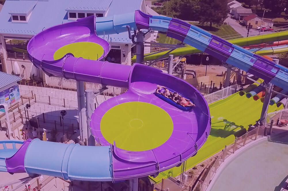 Aerial photo of Breaker's Edge Water Coaster