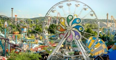 Ferriswheel and Boardwalk at Hersheypark