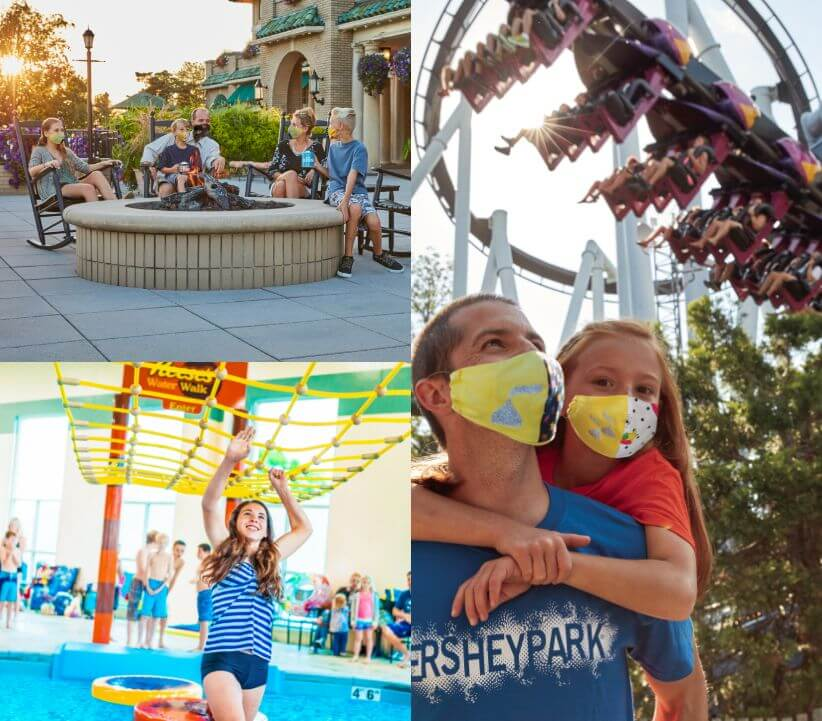 photo collage highlighting people having fun at hersheypark
