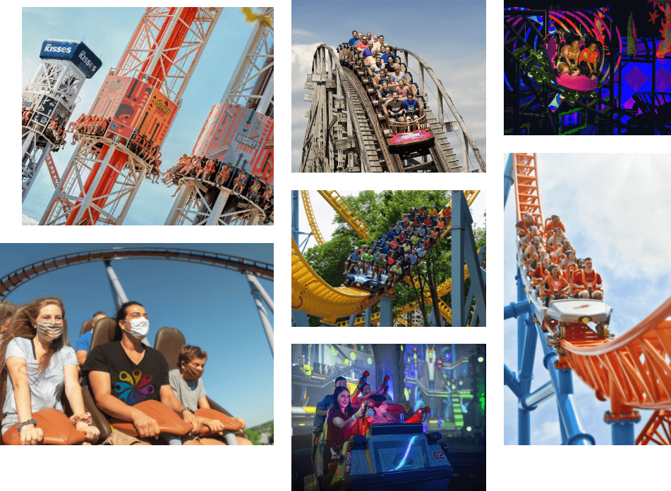 Collage of Hersheypark Happy!
