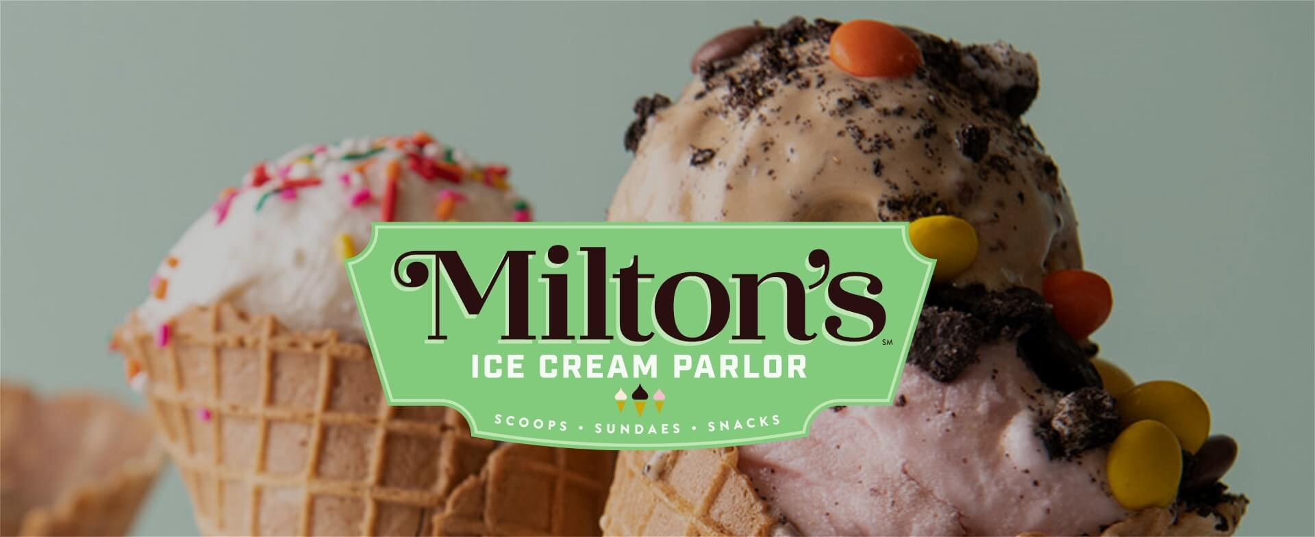 Miltons Ice Cream Parlour Logo