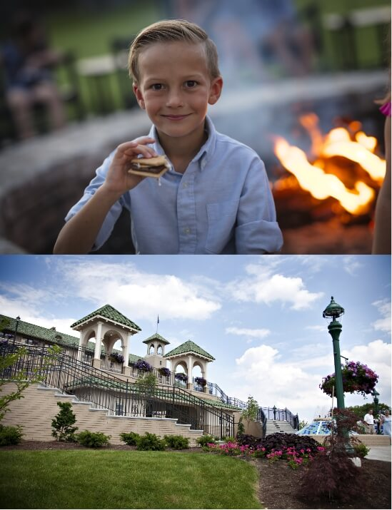 Photo#1 boy with smore #2 the hotel hershey