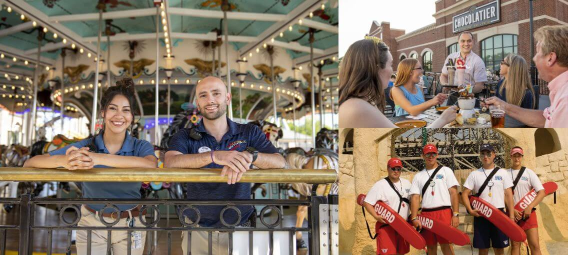 Collage of images of hersheypark employees