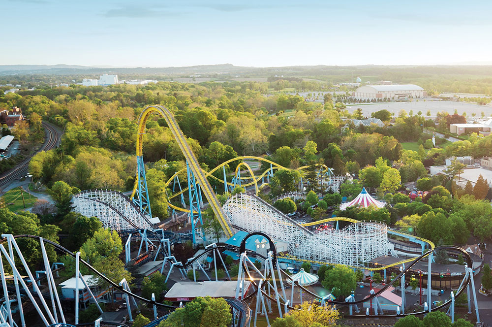 Aerial view of Hersheypark