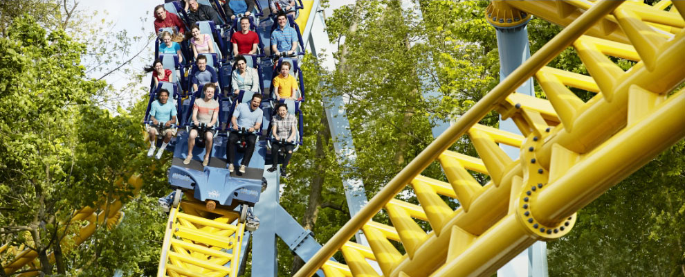 Skyrush on downhill