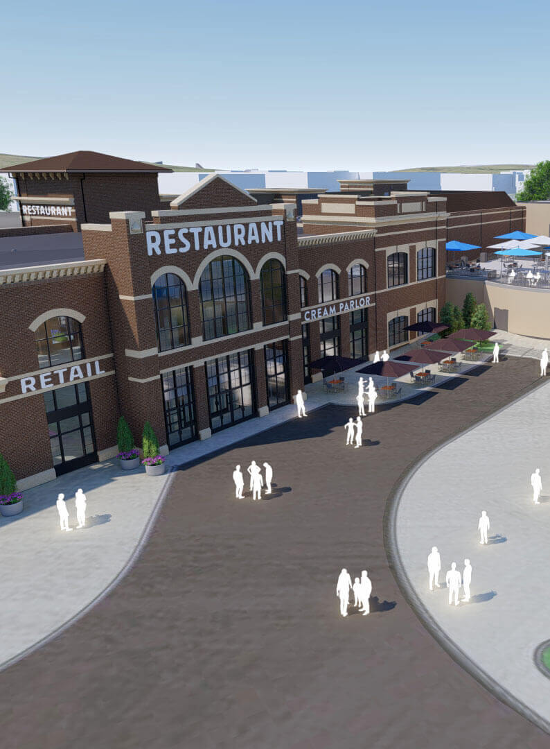 rendering of the new restaurant opening at Hersheypark 2020