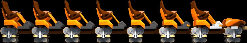 new coaster orange train