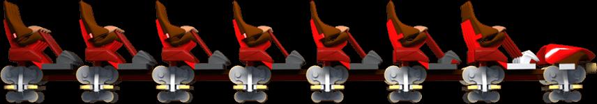 new coaster red train