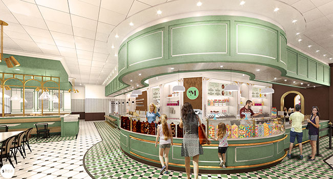 rendering of Milton's Ice Cream Parlor